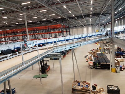 Two-storey warehouse - mezzanine in Tampere, Finland