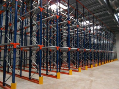 Pallet racking system DRIVE IN, Tartu, Estonia